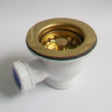 85mm Mini Basket Kitchen Sink Strainer Waste Gold Effect - 74000119